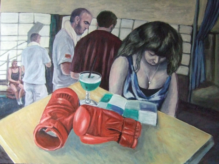 Rote Boxhandschuhe - 2008 - 70 x 100