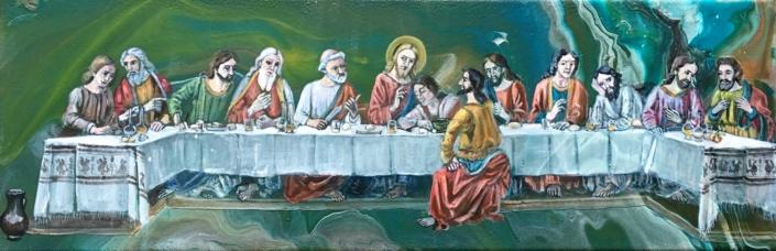 Abendmahl nach Ghirlandaio 2019