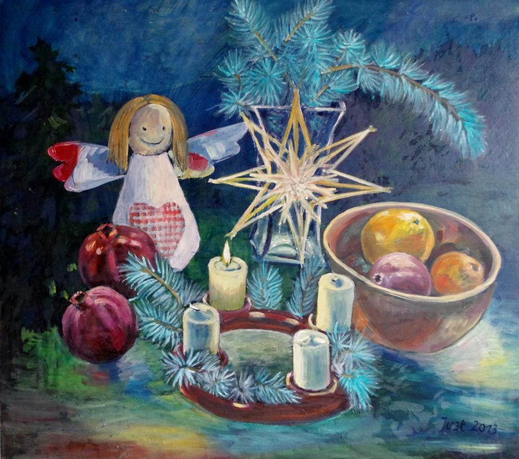 Adventsstilleben - 2013 - 65 x 72,5