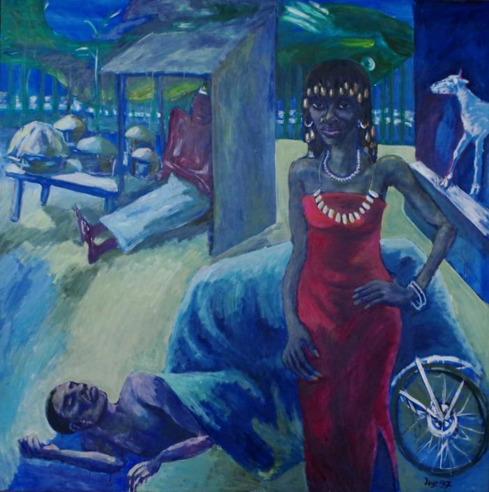 Afrikanische Nacht - 1997 - 150 x 150