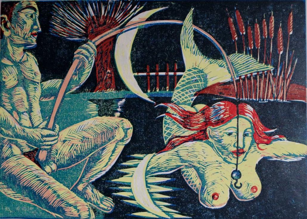 Angler und Nixe - 2012 - 30 x 40
