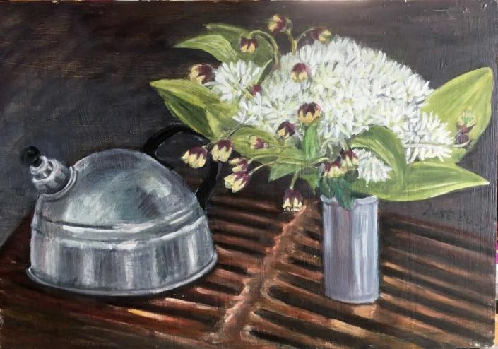 Bärlauch und Wasserkessel - 2009 - 35 x 50