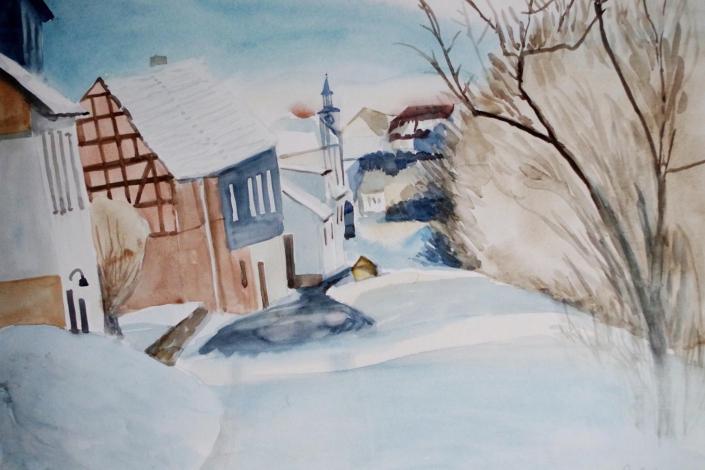 Birkenfeld im Schnee - 2013 - 68 x 48