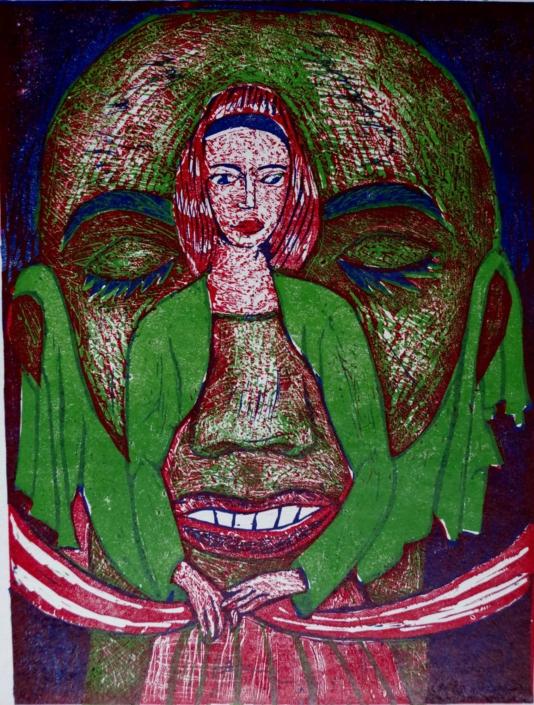 Dante - Beatrice im Kopf - 2002 - 32,5 x 24