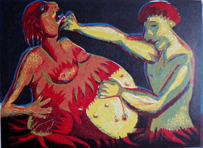 Dante - Simon kämpft mit Meister Adam - 2002 - 30 x 40