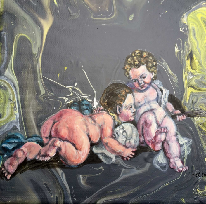 Die Musen der Bildenden Kunst nach Deckenmalerei von Schloss Sancsoussi 2019