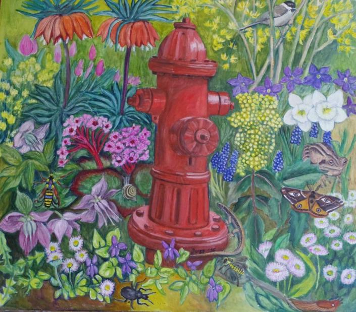 Fantasie mit Hydrant