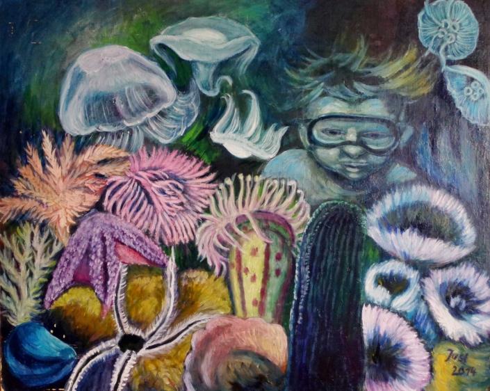 Fantasie mit Taucher - 2014 - 59 x 74