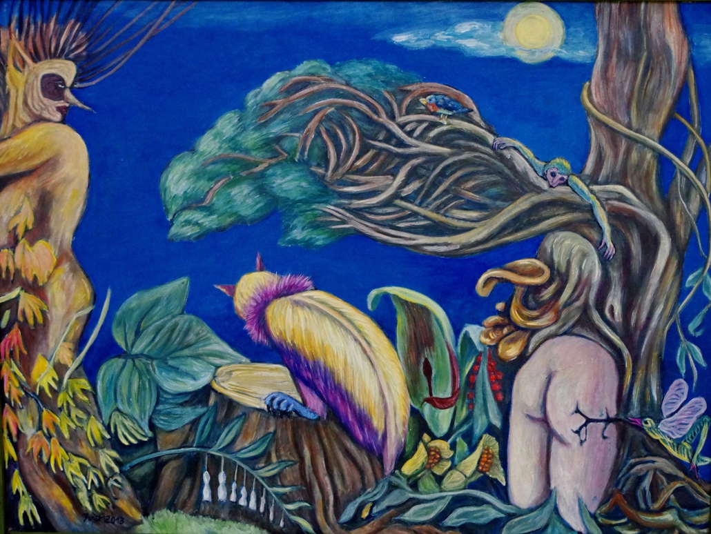 Fantasie mit Vollmond - 2013 - 75 x 100