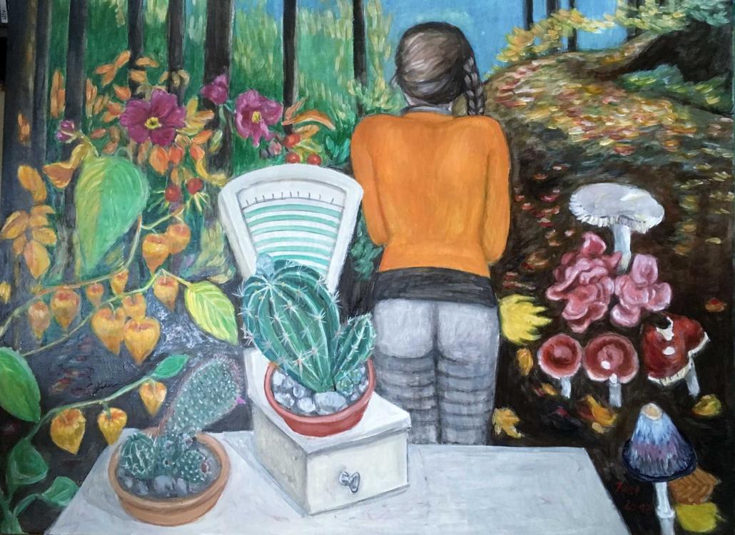 Fantasie mit Waage - 2017 - 120 x 80