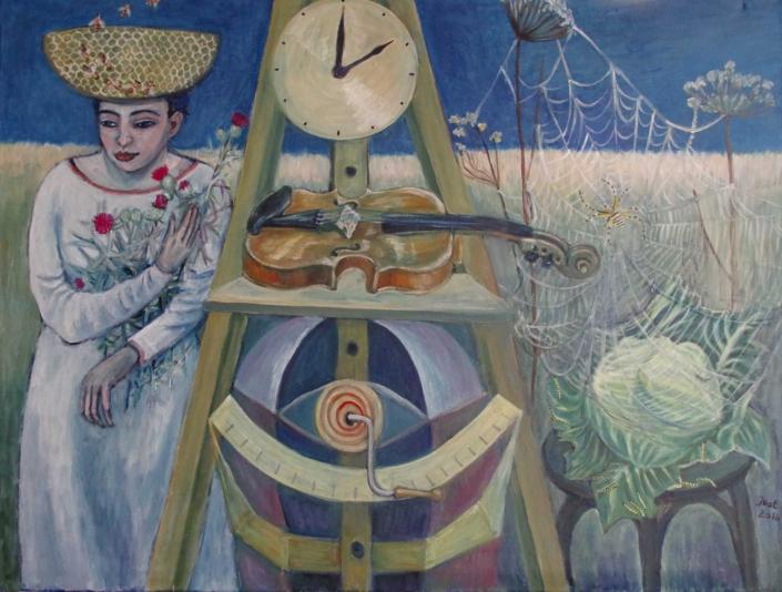 Fantasie mit Zeitmaschine - 2016 - 54 x 70