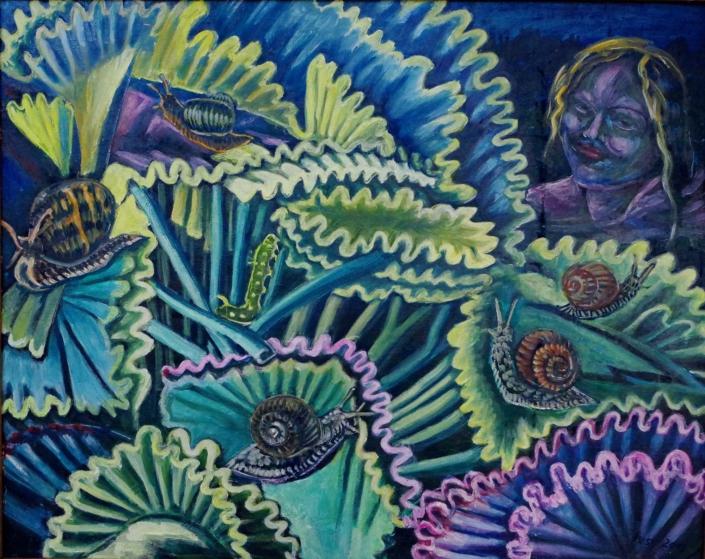 Fantasie mit Schnecken - 2013 - 68 x 86