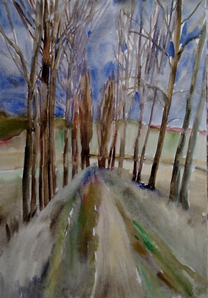 Feldweg bei Zeilfeld - 1992 - 73,5 x 51