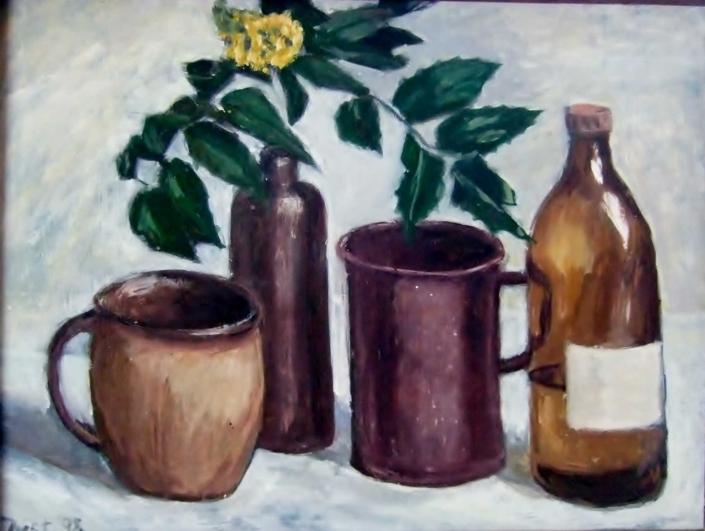 Gefäße mit blühendem Zweig - 1998