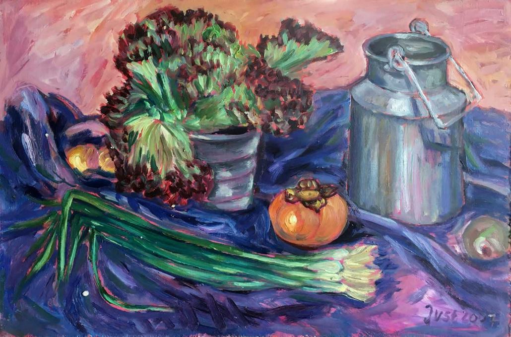 Gemüse und Milchkanne - 2007 - 40 x 60