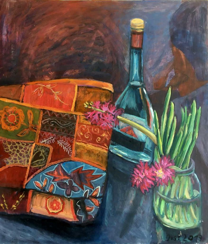 Hyazinthe und indische Decke - 2017 - 61 x 52