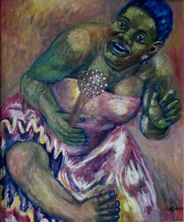 Afrikanische Tänzerin - 1999 - 85 x 70
