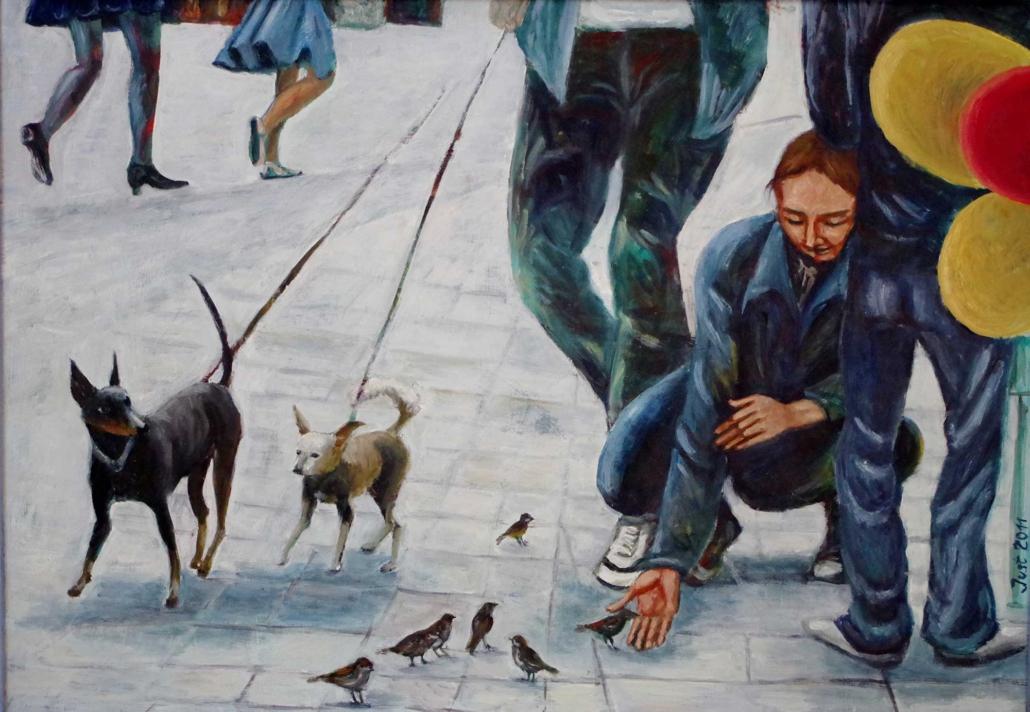 In der Fußgängerzone - 2011 - 52 x 73