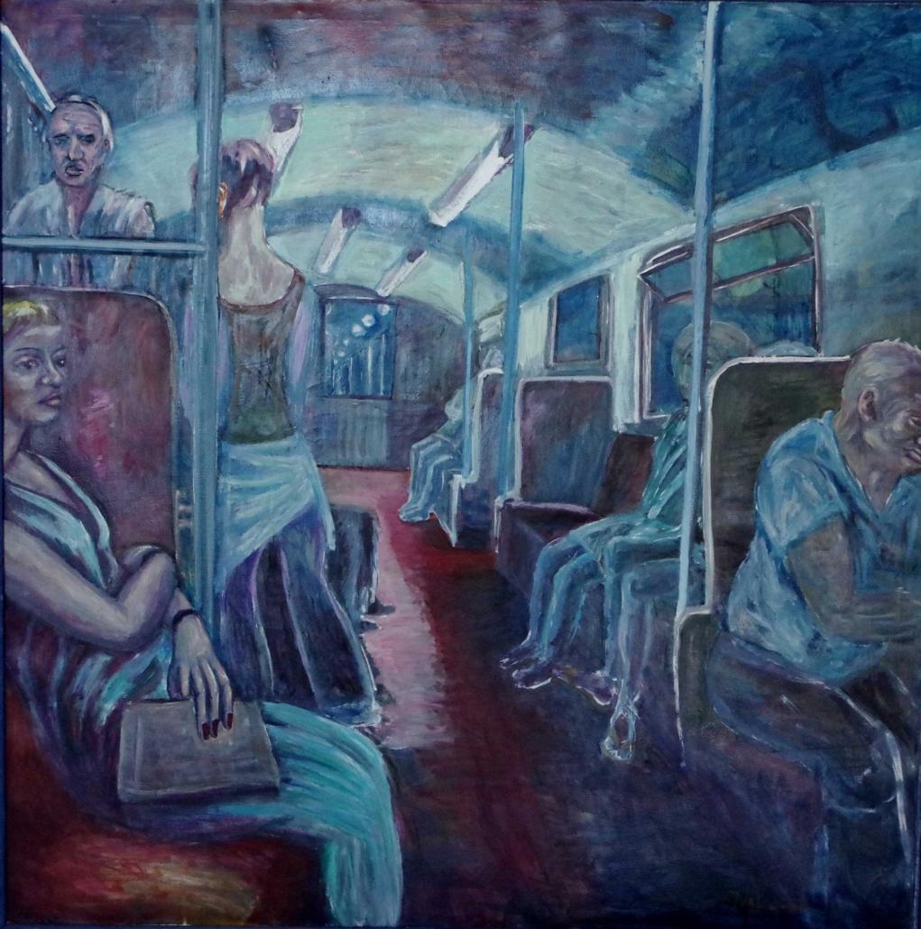 In der U-Bahn - 2004 - 120 x 120