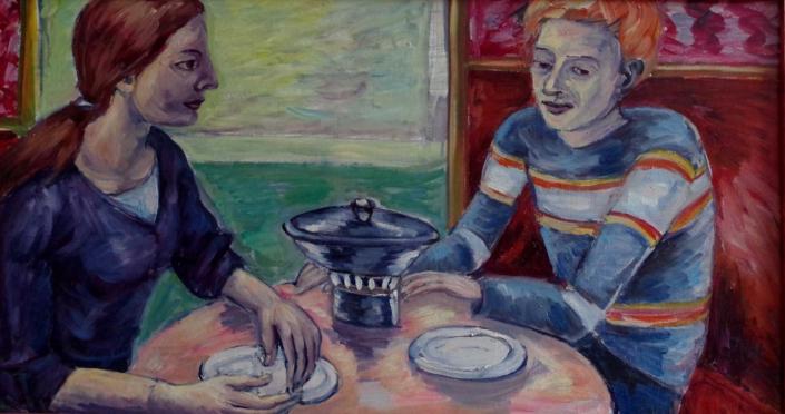 Junges Paar - 2009 - 46 x 85