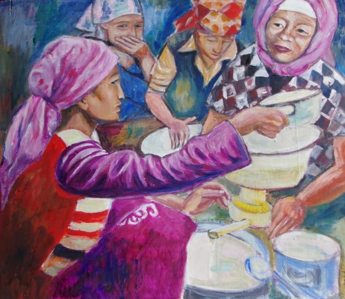 Mongolische Milchküche - 60 x 60 - 2020