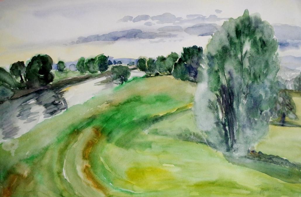 Mulde bei Canitz - 1997 - 51 x 76,5