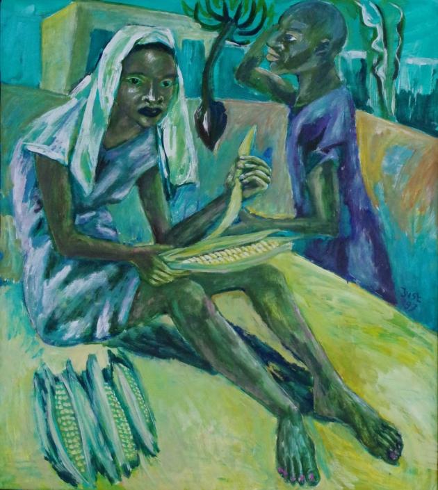 Nach der Maisernte - 1997 - 100 x 90