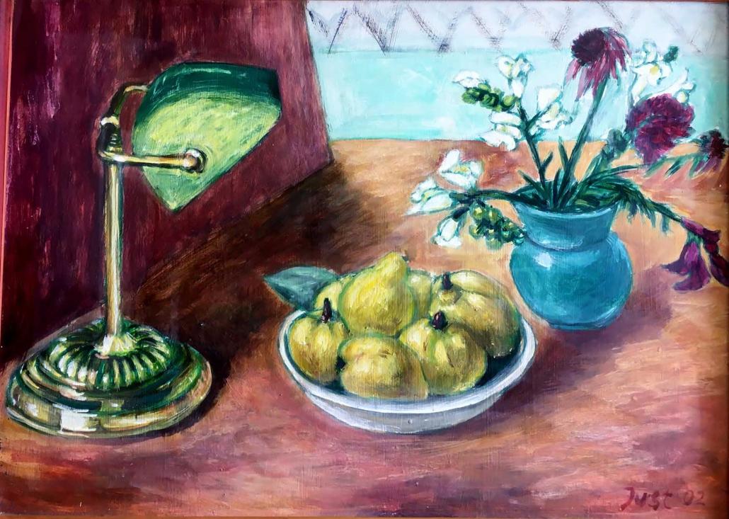 Quitten unter grüner Lampe - 2002 - 50 x 70