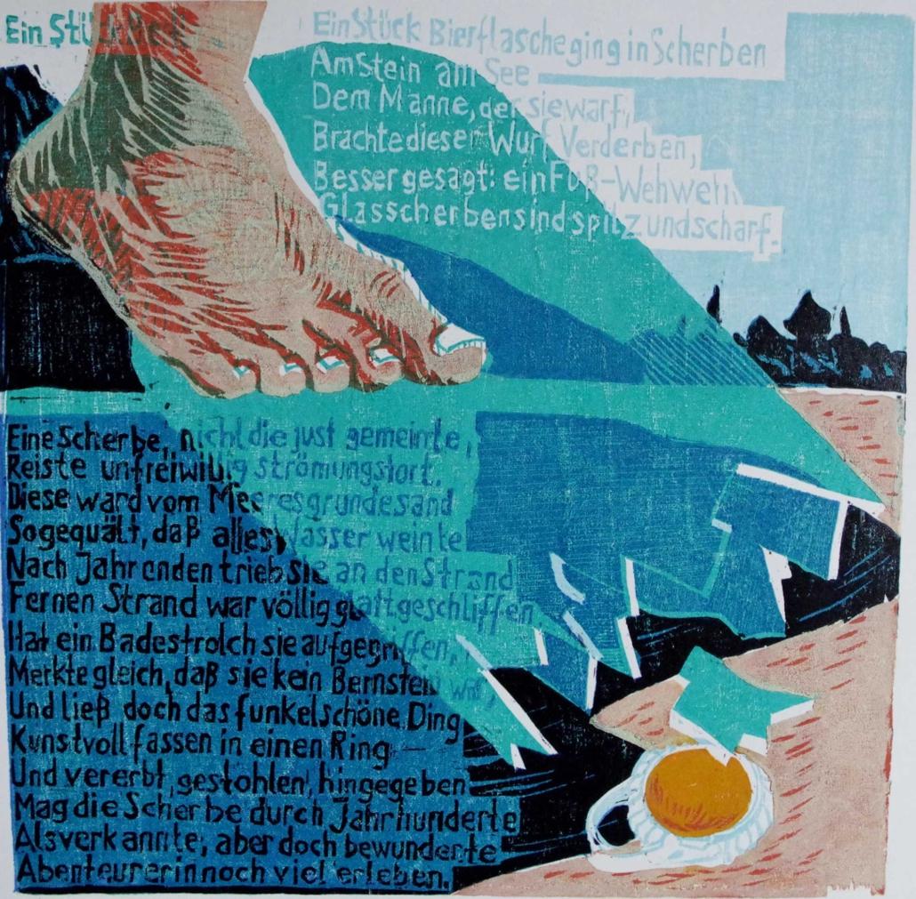 Ringelnatz - Ein Stück Bierflasche - 2011 - 30 x 30,5