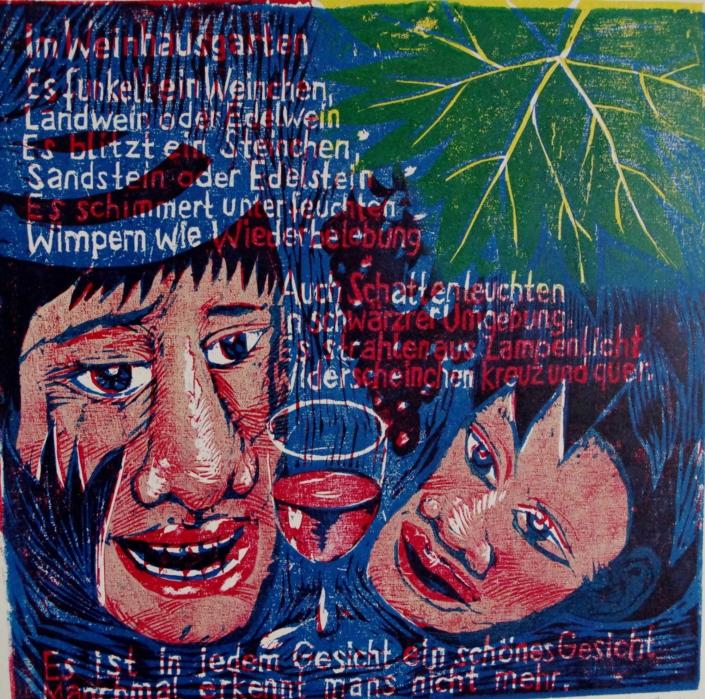 Ringelnatz - Im Weinhausgarten - 2011 - 30 x 30,5