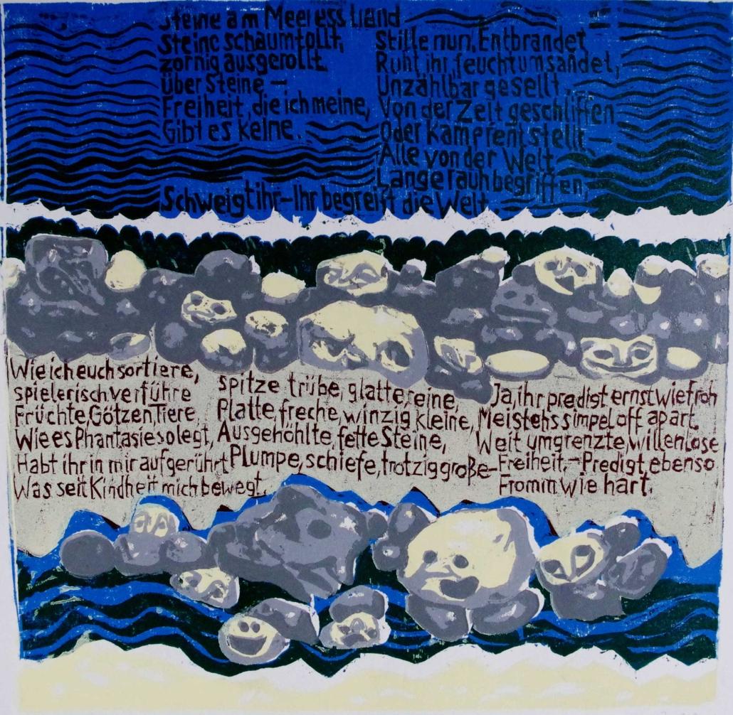 Ringelnatz - Steine am Meeresstrand - 2011 - 30 x 30,5