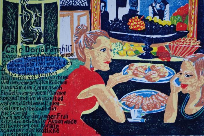 Römisches Cafè - 2014 - 30 x 40