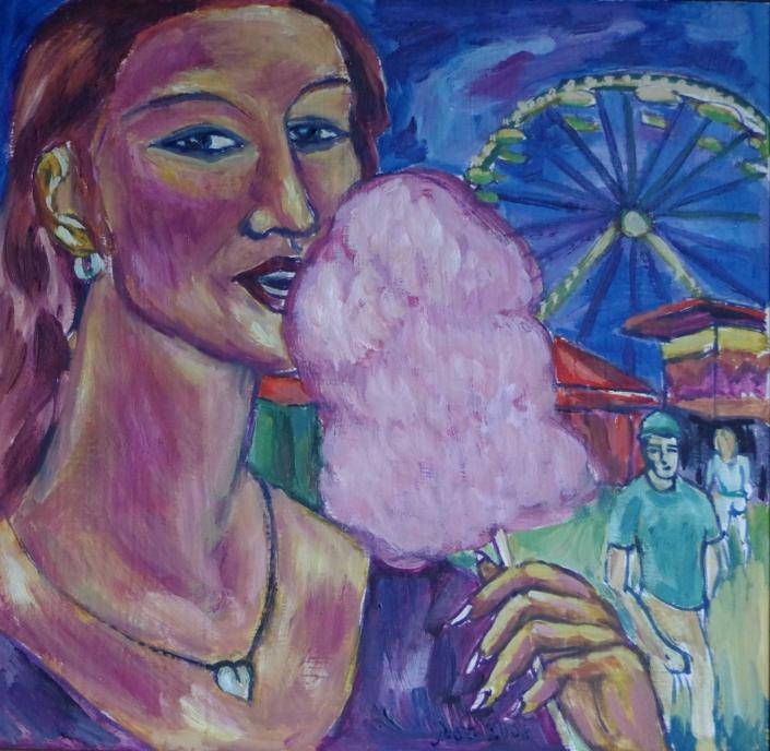 Rosa Zuckerwatte - 2008 - 40 x 40