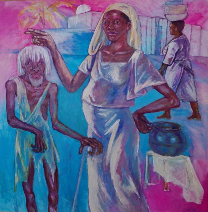 Schwangere und Bettler - 1998 - 140 x 140