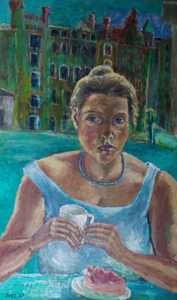 Selbst mit Erdbeerkuchen - 1997 - 100 x 60