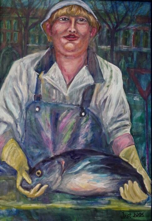 Spanische Fischverkäuferin - 2005 - 100 x 70