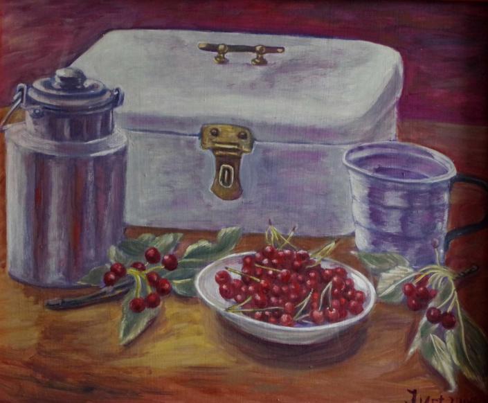 Stilleben mit Kirschen - 2005 - 50 x 60