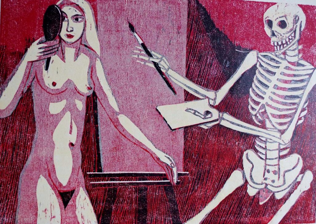 Totenzyklus - 2003 - Tod als Maler - 30 x 40