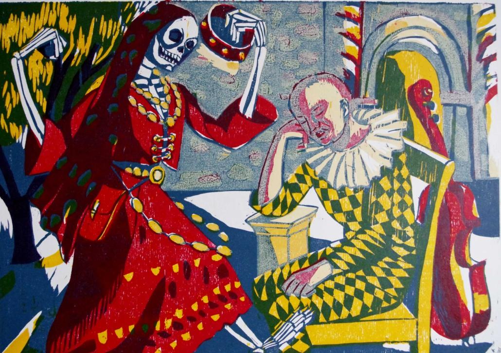 Totenzyklus - 2003 - Tod als Zigeunerin - 30 x 40