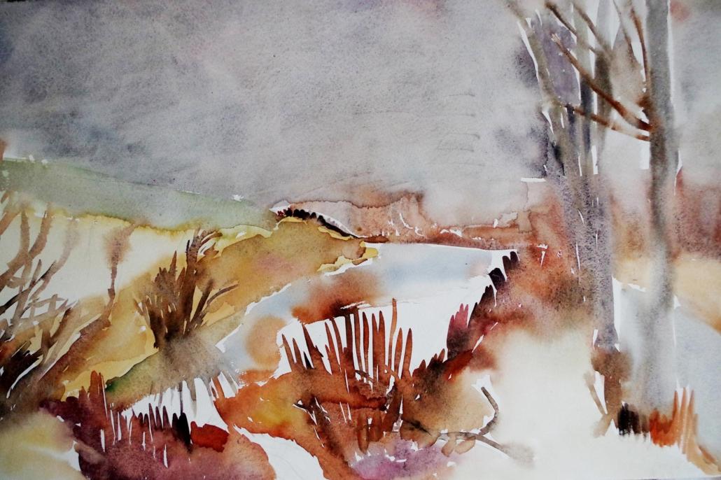Tümpel bei Rohr - 1993 - 74 x 48