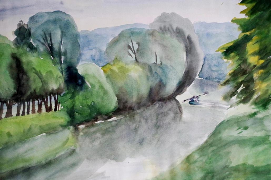 Unstrut bei Wannungen - 2003 - 48 x 68
