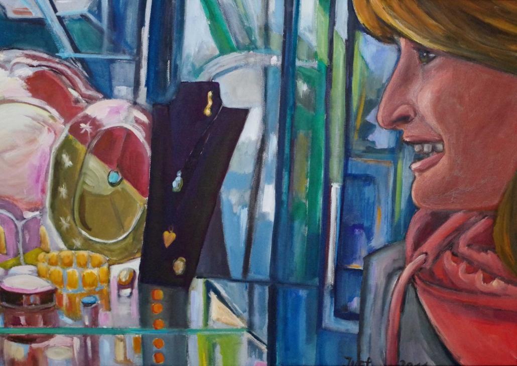 Vor dem Schmuckladen - 2011 - 50 x 70