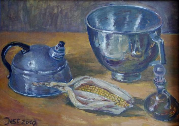 Wasserkessel und Mais - 2002 - 42 x 60