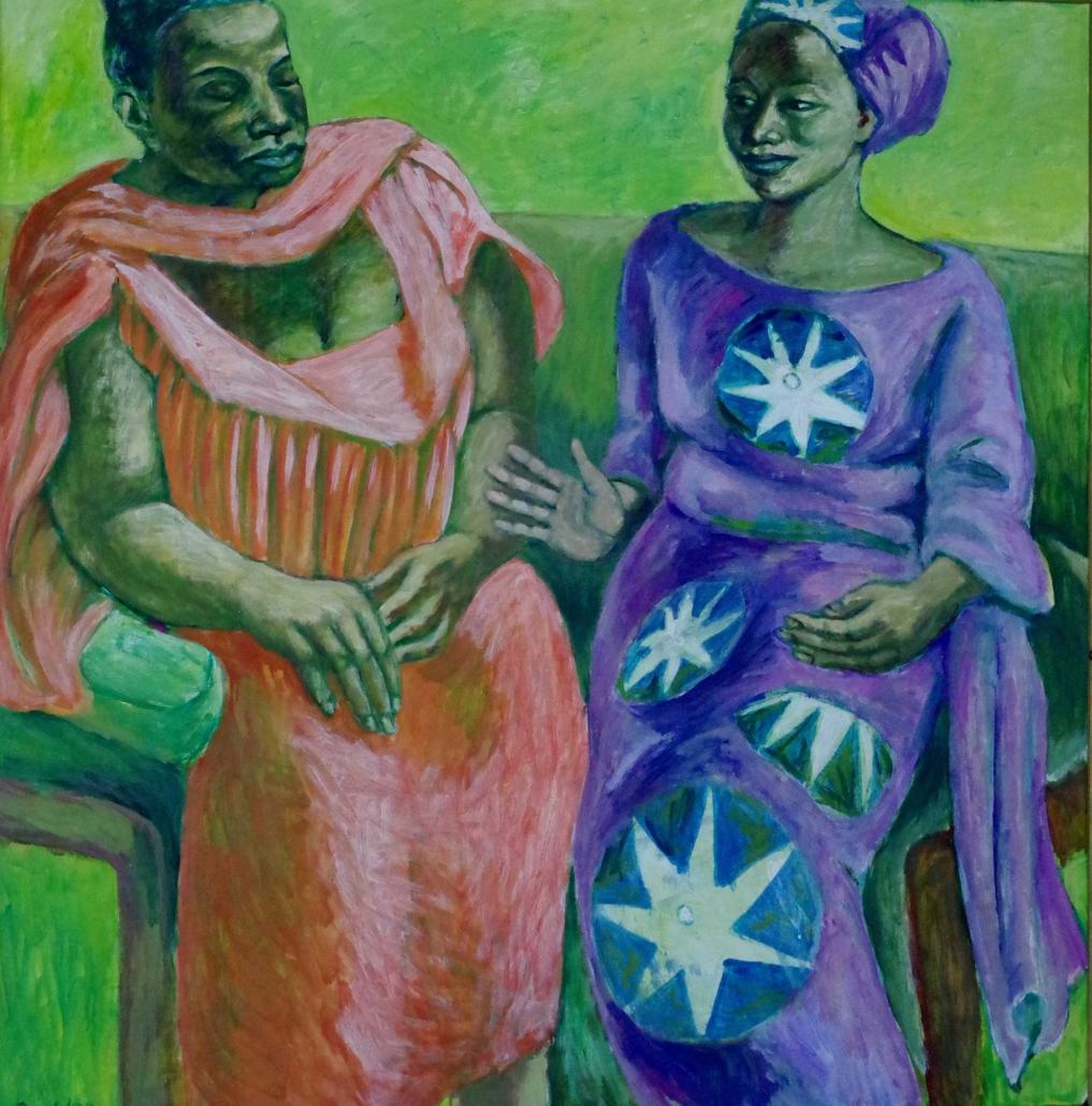 Zwei Frauen im Gespräch - 1998 - 105 x 103