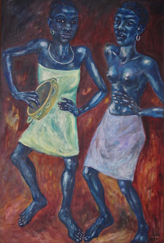 Zwei Tänzerinnen - 1999 - 135 x 90